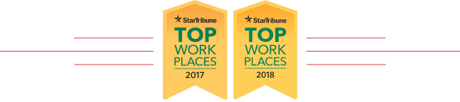 Star Tribune: Top places to work 2017 and 2018 award